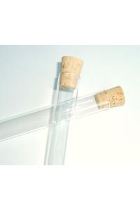 Stikla mēģene ar korki