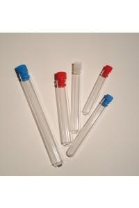 Stikla mēģene ar plastmasas korki